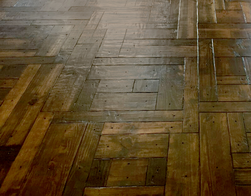 hand scraped wood floor
