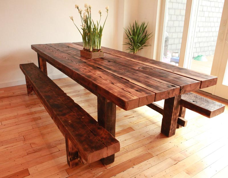 Hand-hewn Table